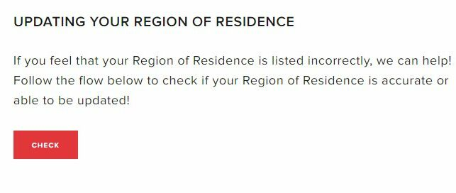 Valorant Check region change