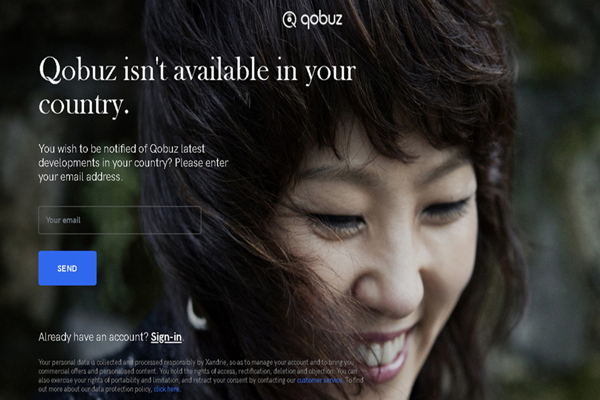 Qobuz not available in your country