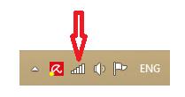 Windows displays connectivity icon