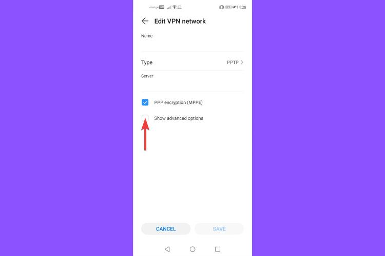 Huawei shows VPN advanced options
