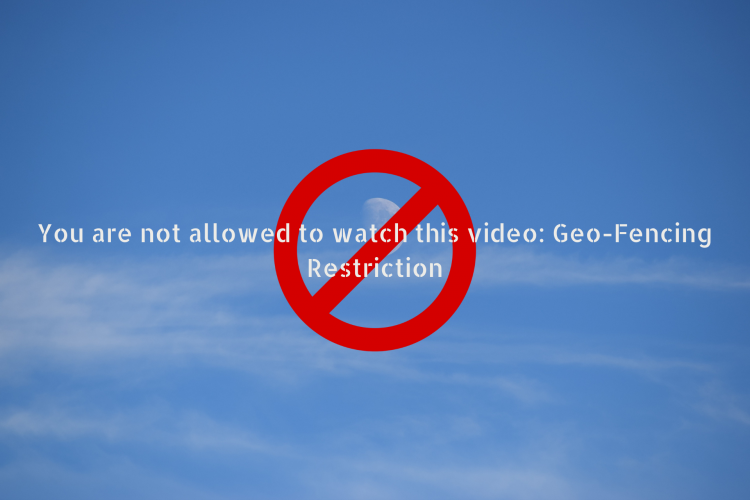 Fix You are not allowed to watch this video Geo-Fencing Restriction